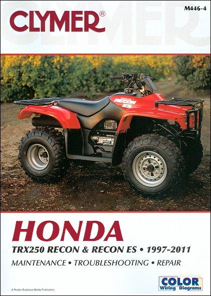 honda atv repair manual for trx250 recon, 1997-2011  atv-411.com